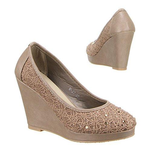 M-27 femme chaussures, escarpins femme Marron - Sable