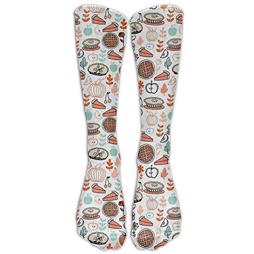 ood Pies Kitchen Pumpkin Athletic Tube Stockings Women's Men's Classics Knee High Socks Sport Long Sock One Size ()