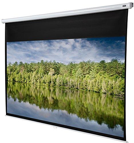 celexon manuell ausziehbare Rollo-Beamer-Leinwand Economy - 280 x 158 cm - 16:9 - Gain 1,0 - Full-HD und 4K