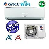 Climatizzatore mono split LOMO WI-FI 24000 Btu GREE classe A++/A+ inverter refrigerante R32