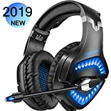 Willnorn Gaming Headset for PS4 Xbox One PC, Noise Cancelling Over-Ear Headphones With