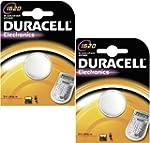 2 DURACELL 1620 Lithium Batteries CR1...