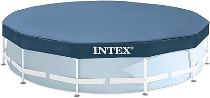 INTEX - Cobertor Piscina metálica Metal y Prisma Frame 366 cm