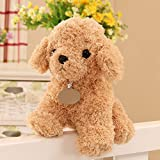 Hihamer Plush Toys, Cute Simulation Teddy Dog Doll Plush Toys Puppy Dog Doll Birthday Christmas Party New Year Gift For Kids Girls Boys (M, Beige)