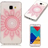 TPU Coque Samsung Galaxy A3 2016 Etui,Vandot Anti-Scratch Ultra Léger Housse Doux Silicone Etui Crystal Clear Ultra Mince TPU Silicone Coque Beau Motif Totems Fleur Rose Hull Étui pour Samsung Galaxy A3 2016 Slim Invisible Housse Anti-Rayures Antichoc Cover Samsung Galaxy A3 SM-A310F Transparente Souple Coque - Totems Fleur Rose
