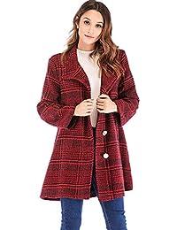 Amazon.it  giacca scozzese - Rosso   Donna  Abbigliamento 217153ee8db