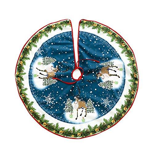 Babbo Natale 90 Cm.Timmil Christmas Albero Tappetino Decorata Con Babbo Natale E