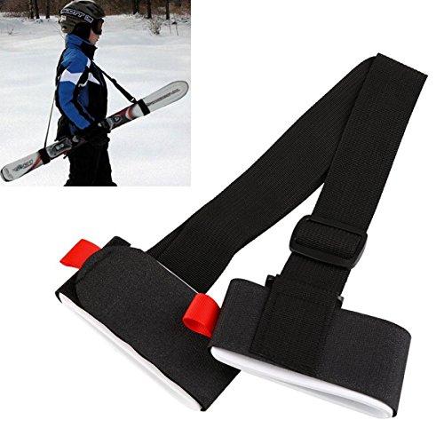 Spalla di sci alpino Cinturino - regolabile sci Carrier cinghie, Velcro cinghie Sci Sling Tracolla, comodità e comfort (2 pezzi)