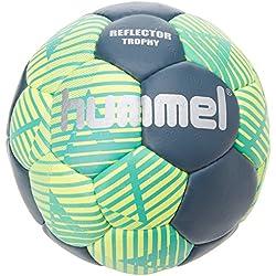 hummel Ballon de Handball Taille 0, 1, 2ou 3pour & Training-Reflector Trophy HB-Résine Loisirs & Sport-Balle de Jeu Bleu & Jaune avec Valve Air de Trap  N 3 Ceramic Blue/Safety Yellow
