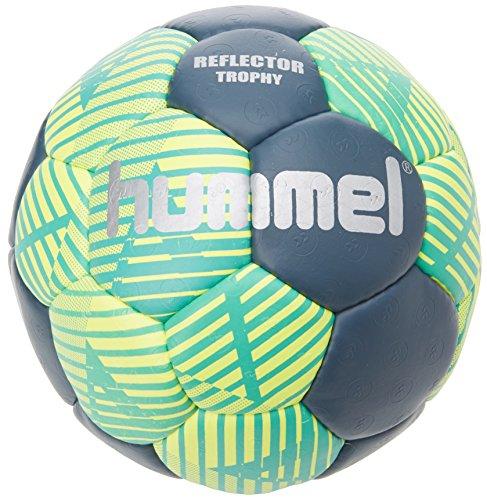 Hummel Erwachsene Reflector Trophy HB Handball, grün (Ceramic Blue/Safety Yellow), 3