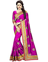 Lajree Designer Faux Georgette Saree With Blouse Piece(Trisha Pink Sarees999_Pink_Free Size)