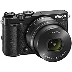 Nikon 1 J5 Systemkamera (20 Megapixel, 7,5 cm (3 Zoll) Display, 4K-Videoaufzeichnung, Funktionswählrad, Einstellrad, Funktionstaste, WiFi, NFC, USB, HDMI) Kit inkl. 10-30 mm PD-Zoom Objektiv schwarz