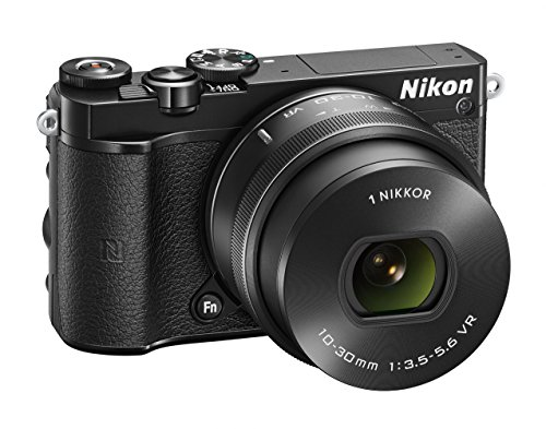 Nikon 1 J5 Systemkamera (20 Megapixel, 7,5 cm (3 Zoll) Display, 4K-Videoaufzeichnung, Funktionswählrad, Einstellrad, Funktionstaste, WiFi, NFC, USB, HDMI) Kit inkl. 10-30 mm PD-Zoom Objektiv schwarz (Nikon 1 J5)