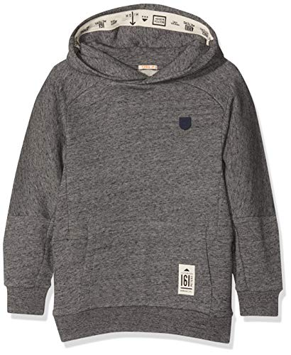 Poly Hoody (Scotch & Soda Shrunk Jungen Kapuzenpullover Oversized Hoody in Poly-Cotton Quality, Grau (Charcoal Melange 607), 140)