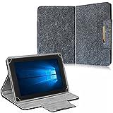NAUC Filz Hülle f Archos Copper 101C Tablet Tasche Schutzhülle Case Cover Stand, Farben:Dunkel Grau