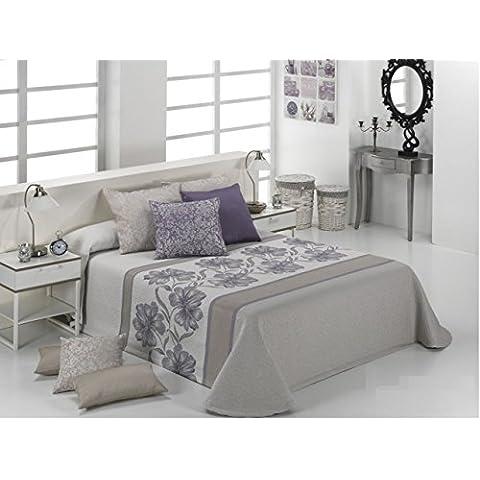 Textilia Orión - Colcha cubrecama, para cama de 150 cm, 250 x 270 cm, color lila