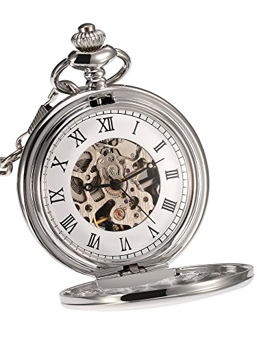 Mudder Herren Analog Mechanik Taschenuhr