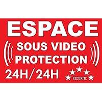 Panneau espace sous vidéo protection 24/24