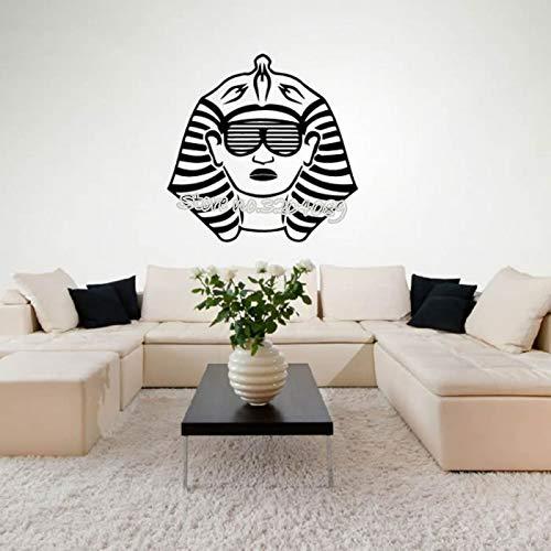 Pharao Sonnenbrille Wandaufkleber Alten Ägyptischen Vinyl Wandtattoo büro Kinder Schlafzimmer Wohnzimmer kunst tapete Wohnkultur 42X42CM