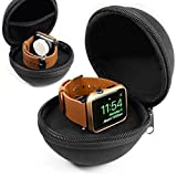 Orzly® Travel Vault for Apple Watch & Cable - SCHWARZ (Beutel Nur - Cable & AppleWatch NICHT ENTHALTEN)