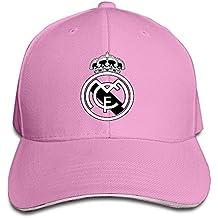 hittings Real Madrid C.F. Logo Football Club Adjustable Sandwich Gorra de béisbol Rosa