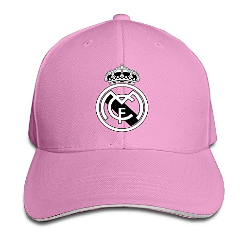 Hittings Real Madrid C.F. Logo Football Club Adjustable Sandwich Baseball Cap Pink par  Hittings