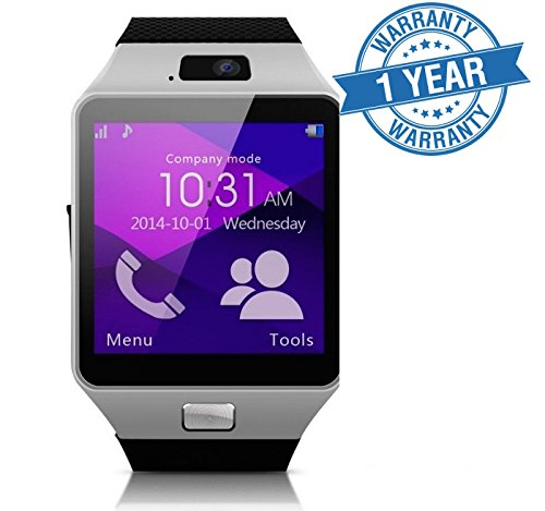 Bluetooth Smart Watch DZ09 Phone With Camera and Sim Card & SD Card Support With Apps like Facebook and WhatsApp Touch Screen Multilanguage Android/IOS Mobile Phone Wrist Watch Phone with activity trackers and fitness band Fit features compatible with All Android like Samsung IPhone HTC Moto Intex Vivo Mi One Plus 3, LYF Earth 2 Oppo, Vivo, Lenovo Zuk Z1.