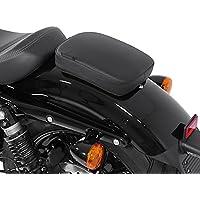 Asiento Ventosa Pasajero para Harley Davidson Sportster 883 Iron (XL 883 N) Craftride Glider negro