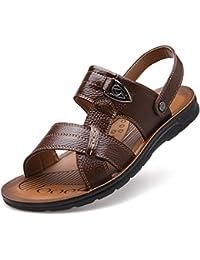 660f8595e82 TDPYT Été Hommes Sandales en Cuir Split Hommes Chaussures Décontractées  Slip-on Plage Sandales Hommes
