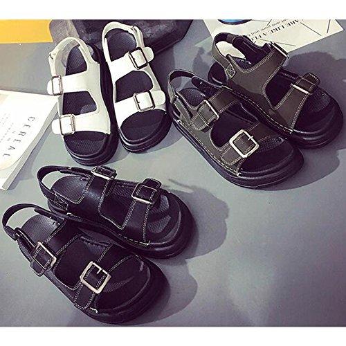 Eastlion Sommer Magie Aufkleber Römische Sandalen Frauen Flache Unterseite Einfache Bequeme Exponierte Zehe Schuhe Grün