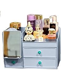 Organizador De Maquillaje. Joyas Perfumes Exhibición De Cosméticos Caja De Soporte Con Cajones 2 Niveles