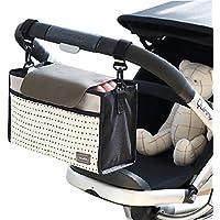 Bolso de almacenamiento del organizador del carro del bebé, Sunbeter bolso de almacenaje colgante del carro multifuncional Bolso de pañal impermeable del Portable - buen ayudante de la madre