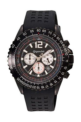 Preisvergleich Produktbild Gigandet SUPERSONIC Armbanduhr Chronograph Edelstahl G1-002