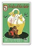 Póster de la Isla del Pacífico de Madrid (España) - 1951, Fiestas de San Isidro (Día del Este de San Isidro) - Póster Vintage de Viaje del Mundo por Echanove c.1951, impresión artística