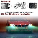 Duoying Spike Rad Lug Strapazierfähig Aluminiumlegierung Silber 100 stücke Rutschfeste Automobil Sicherheitsschutz