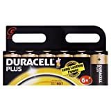 Duracell Plus MN1400 Alkaline C Batteries - 6-Pack