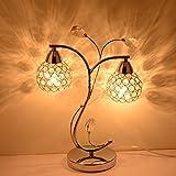 2 Köpfe Kristall Schlafzimmer Tischlampe Kopfenden Baum Blatt Tischleuchten Moderne Studie Wohnzimmer Restaurant Schreibtisch Lights