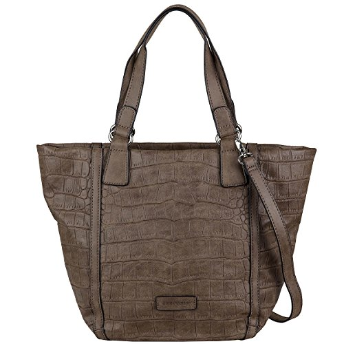 GERRY WEBER, Borsa tote donna Marrone scuro