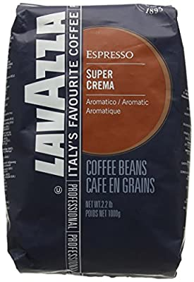 Lavazza Super Crema Coffee Beans 1, 2, 3, 6 x 1kg by Lavazza
