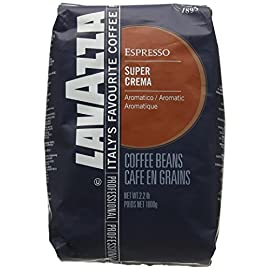Lavazza Super Crema Coffee Beans (6 Packs of 1kg)