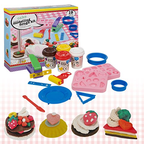 19-piece-cupcake-cake-play-dough-craft-modelling-mould-tubs-doh-clay-set