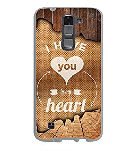 Fuson You Are My Heart Designer Back Case Cover for LG K7 :: LG K7 Dual SIM :: LG K7 X210 X210DS MS330 :: LG Tribute 5 LS675 (Love Quotes Inspiration Emotion Care Fun Funny)