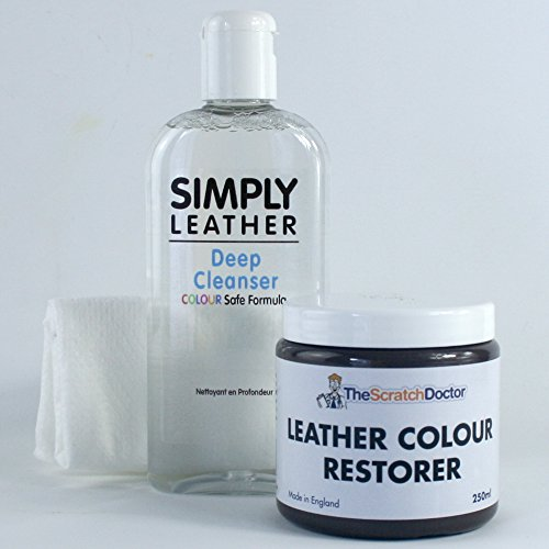 Price comparison product image The Scratch Doctor Leather Cleaner & Colour Restorer Restoration Kit *Special Offer* For Sofa etc (Dark Brown)