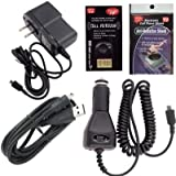 Motorola Bluetooth Charger for HK202, Finiti, H270,H12, H15, H17, H390, H690, S9, S10, H620, Oasis, H710, H720, T215 Charging Kit: Car Charger, House Charger and USB Charger with Free Antenna Booster and Anti Radiation Shield.