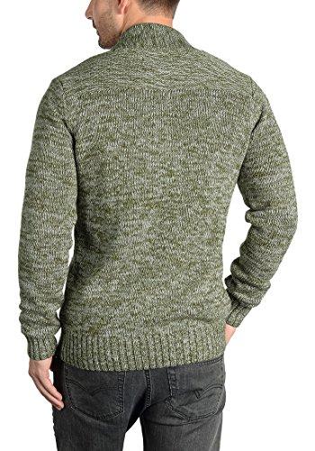 SOLID Herren Powell Strickjacke Cardigan mit V-Ausschnitt aus 100% Baumwolle Meliert Ivy Green (3797)