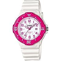 Casio LRW200H - Reloj para mujer (cuarzo, analógico, correa de silicona), color blanco