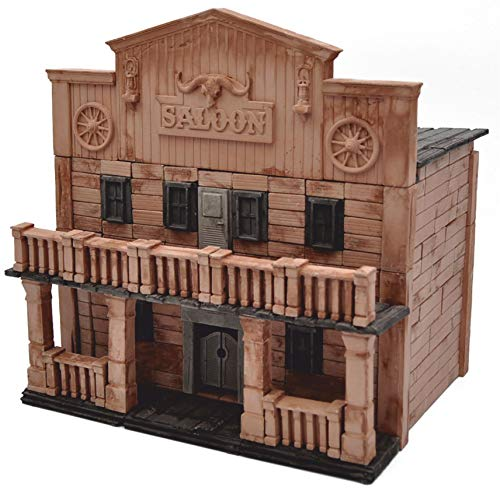 WISE ELK Saloon Wild West Mini Bricks Constructor Set 270 Pieces Build and Rebuild 205X210X165 mm Code 70521 -