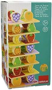 Jumbo D55199 - Früchteturm aus Holz, 60 Teile
