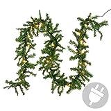 Nipach GmbH Weihnachtsgirlande mit 35er Mini Lichterkette Weihnachtsbeleuchtung 2,7 m XMAS
