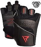 Produkt-Bild: RDX Fitness Handschuhe Trainingshandschuhe Crossfit Handgelenkstütze Sporthandschuhe Gewichtheben Workout Bodybuilding Krafttraining klimmzug Gym Gloves